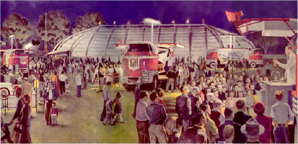 1953 Parade of Progress Painting